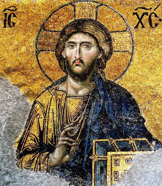 Image of  Jesus from Hagia Sophia.