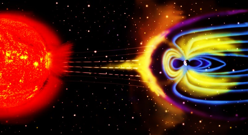 Artists rendition of Earth's Magnetosphere NASA.