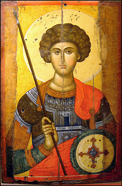 St George Icon of Saint George, from a 14th century Constantinople.