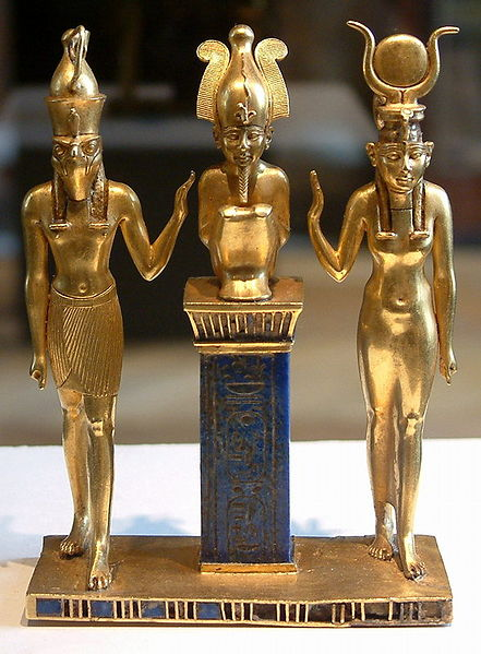 Osiris, Isis and Horus.