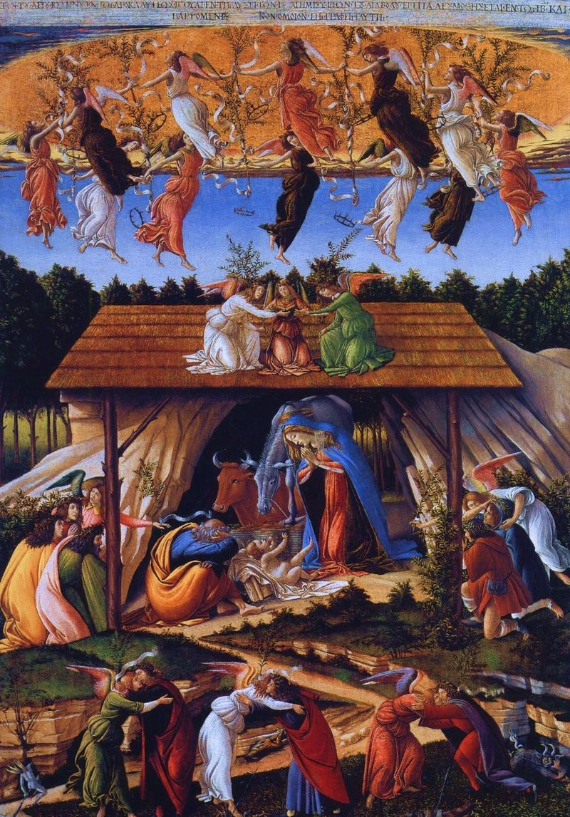 The Mystical Nativity, Sandro Botticelli c. 1500