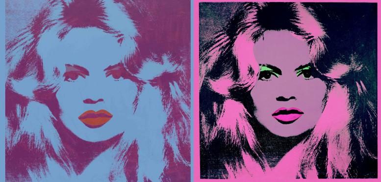 Brigitte Bardot, Andy Warhol.