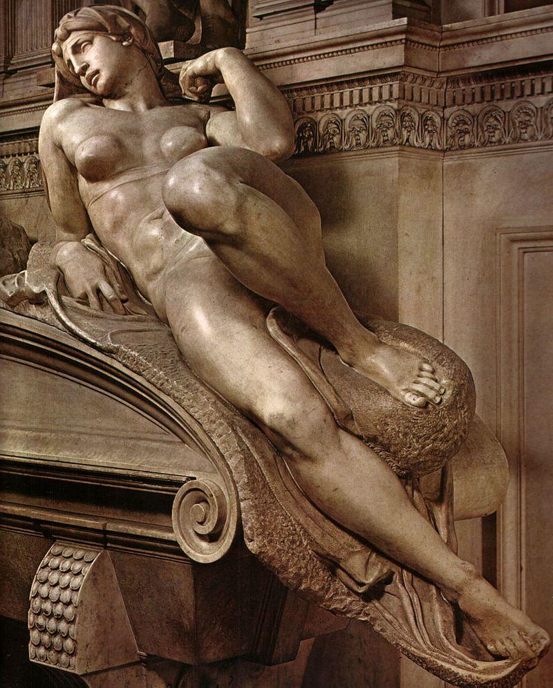 Detail Michelangelo, tomba di lorenzo, duca d'urbino