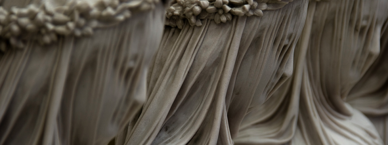 Raffaele Monti's veiled marble sculptures