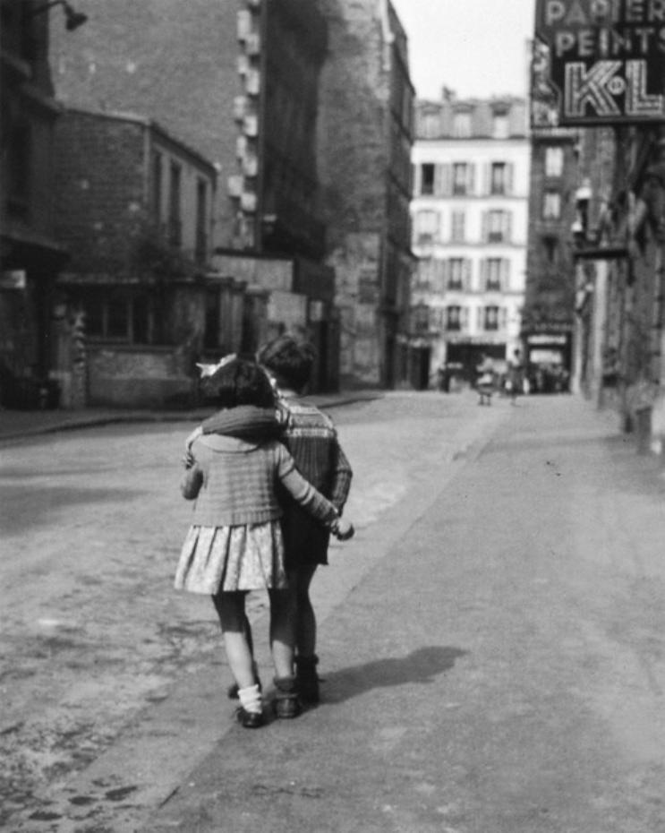 Edouard Boubat, Enfants, Montmartre, 1948.