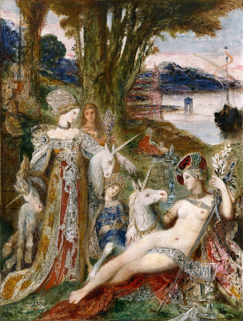 Gustave  Moreau  The Unicorns