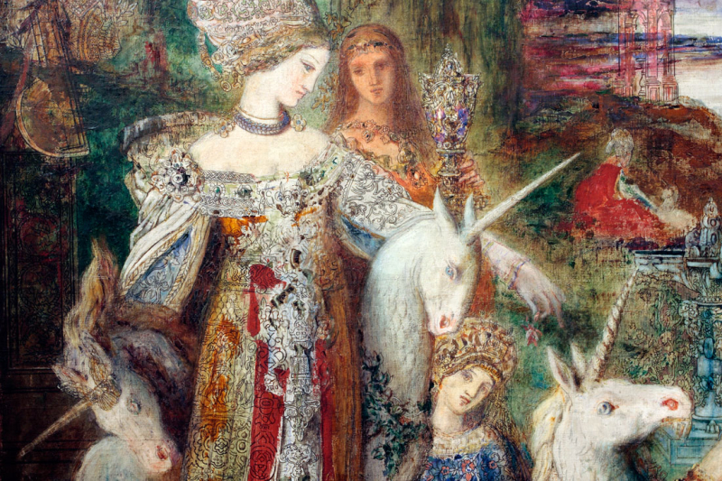 Gustave Moreau The Unicorns. 1885